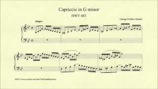 Handel, Capriccio in G minor, HWV 483, Piano