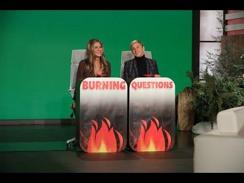 Jennifer Aniston Answers Ellen's 'Burning Questions'