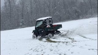 8. Polaris Ranger 500 Ripping up The Snow