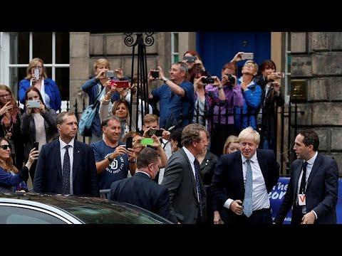 Großbritannien: Boris Johnson bei Antrittsbesuch in Sc ...