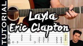 Como tocar Layla de Eric Clapton en guitarra acústica (acoustic guitar lesson)