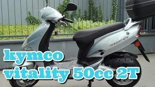 9. Kymco vitality 2T 50cc super model odpalanie z kopniaka