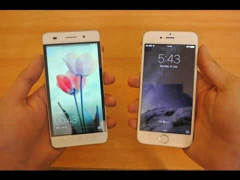 Huawei Honor 4c vs iPhone 6 iOS 9 - Which Is Faster? (видео)