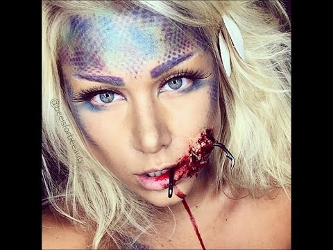 hooked mermaid sfx ariel halloween makeup tutorial