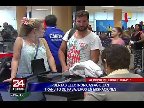 Aeropuerto Jorge Chávez: puertas electrónicas agilizan tránsito de pasajeros en migraciones