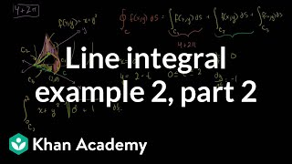 Line Integral Example 2 (part 2)