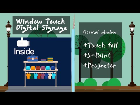 Interactive Window Touch Digital Signage
