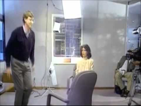 Image of Bill Gates jumping over a chair like a gangster - YouTube