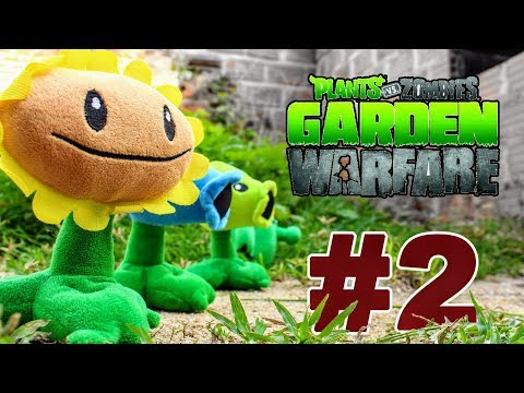 Plants vs Zombies Plush Toys: Garden Warfare with Zombie attack 2 - PART 2 | MOO Toy Story