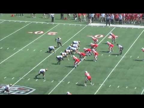 Larry Dixon 71-yard touchdown run vs Ball St. 2013 video.