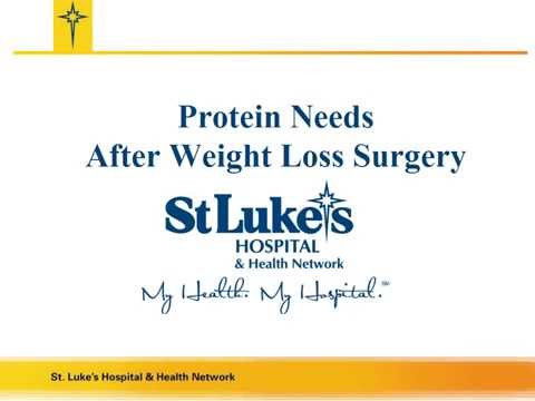Protein Needs After Weight Loss Surgery