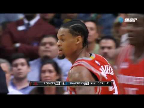 K.J. McDaniels double-pump dunk past Andrew Bogut