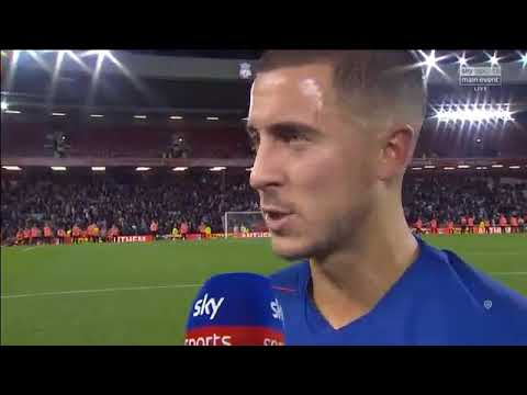 Liverpool Vs Chelsea England  League Cup   Eden Hazard Wins Man Of The Match...