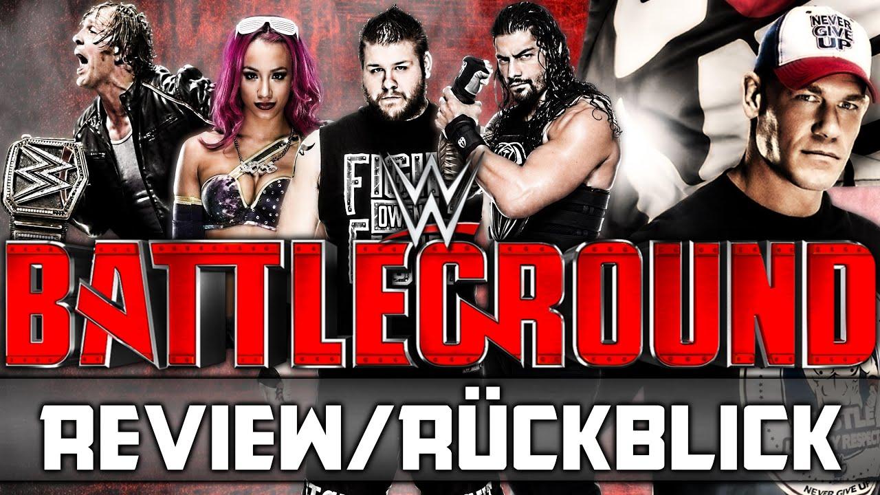 WWE Battleground 2016 – PPV Review/Rückblick – Sehenswert! (Deutsch/German)