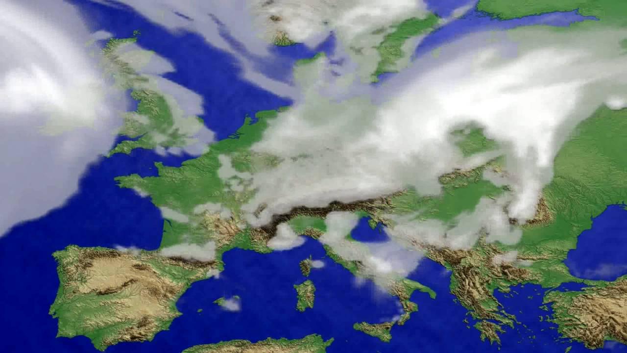 Cloud forecast Europe 2016-07-12