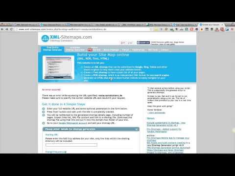 XML Sitemaps – Einfach eine HTML Sitemap erstellen mit XML-Sitemaps.com