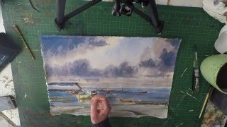 Low tide Watercolour Demonstration Morecambe Bay