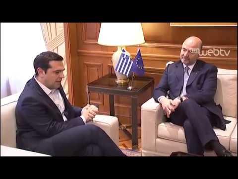 Συνάντηση με τον Ευρωπαίο Επίτροπο Οικονομικών και Νομισματικών Υποθέσεων, κ. Πιέρ Μοσκοβισί