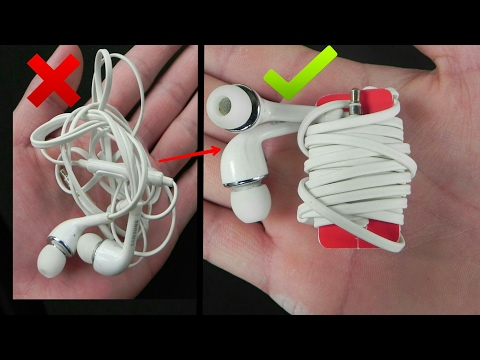 3 Ideas to keep your Earphone from Tangling | Life Hacks