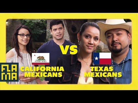 California Mexicans vs. Texas Mexicans