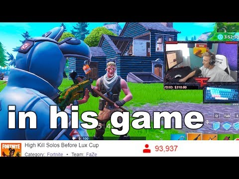 I FAKED Playing Fortnite With TFUE On Stream And It Actually Worked