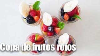 Copas de frutos rojos