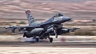 Video F-16 Fighter Jets Preflight + Takeoff/Landing At Nellis AFB MP3, 3GP, MP4, WEBM, AVI, FLV Februari 2019