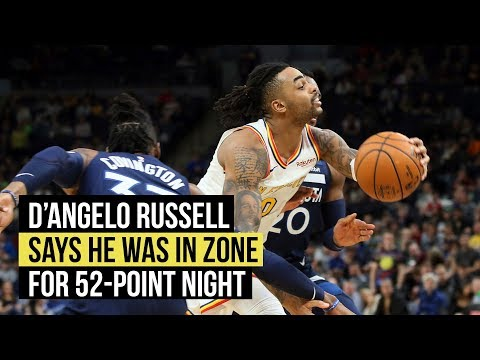 D'Angelo Russell says he was in zone for 52-point game