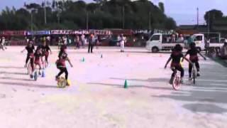 羽黒の夏祭り(16)一輪車・東児童セン