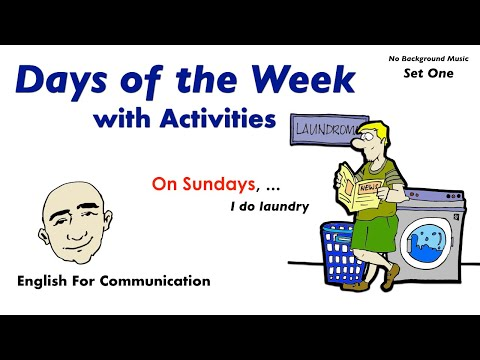 Frases cortas - Days of the Week with Activities - Set 1  English For Communication - Speaking Practice  ESL