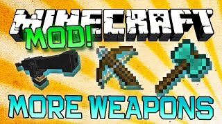 "Minecraft ""MORE WEAPONS"" BALKON'S MOD! (Epic Guns, Cannons and New Melee Items) Mod Showcase"