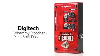Ford Thurston from DigiTech presents the Whammy Ricochet pedal. Just set the independent rise and fall times, hold down the footswitch, and dive-bomb to your...