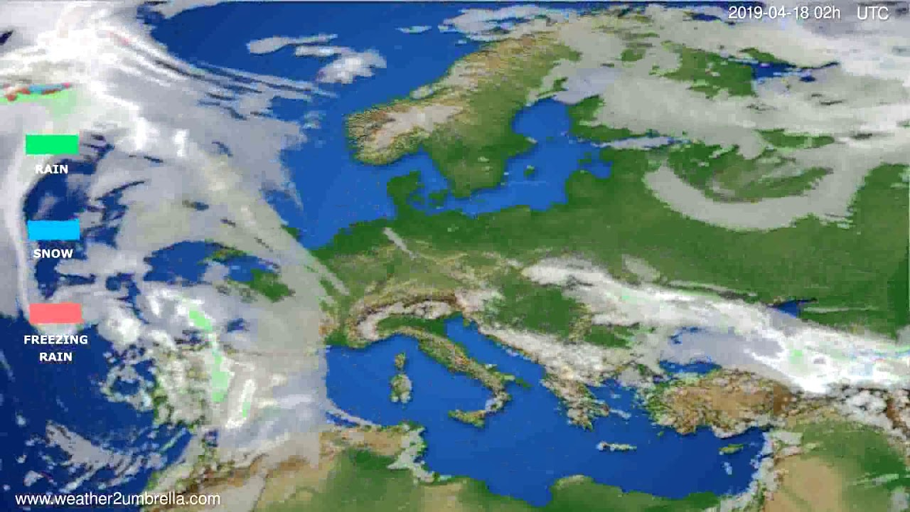 Precipitation forecast Europe // modelrun: 12h UTC 2019-04-15