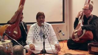 "Ustad Mashkoor Ali Khan sahib presents two rare prakars (forms) of Malhar in this live recording of a concert hosted by Raga Music Circle in New York on June 12th 2016.First is raga Ramdaasi Malhar with a soulful bandish set to slow Addha tal: Eisi ri bundariyaanKhan sahib's comments in the beginning: ""This is not exactly the right season to sing Malhar but I will sing none the less because I don't know when I will get the chance next to sing during the monsoons here. So here is raga Ramdaasi Malhar for you. It is out of season but in New York it can rain anytime. My forefathers sang this raga and this composition but it is rare nowadays."" He goes on to explain the difference in application of the note ""gandhar"" or ga in this raga versus in raga Miyan ki Malhar, which is the most popular form of Malhar sung now.Second, is raga Gaud Malhar with a bandish set in Drut Teental: Umad ghumad garaja garaja. This is a composition of the well known composer Kunwar Shyam.Vocals: Ustad Mashkoor Ali KhanTabla: Nitin MittaHarmonium: Anirban ChakrabartyTanpuras: Anup Barua and Michael HarrisonRecorded and edited by Aric Gutnick"