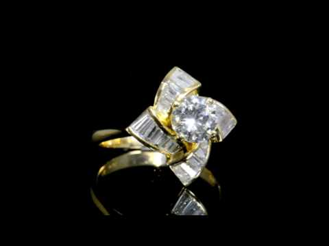GS Certified 0.98ct Round Brilliant Cut Diamond Ring