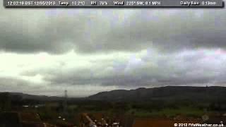 12 May 2013 - WeatherCam Timelapse - FifeWeather.co.uk