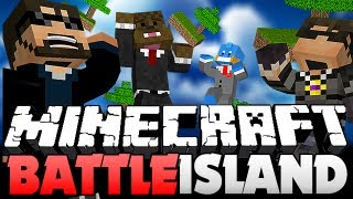 Minecraft BATTLE ISLANDS FAIL - GET OFF MY ISLAND!! (SkyDoesMinecraft, Jerome, Husky)