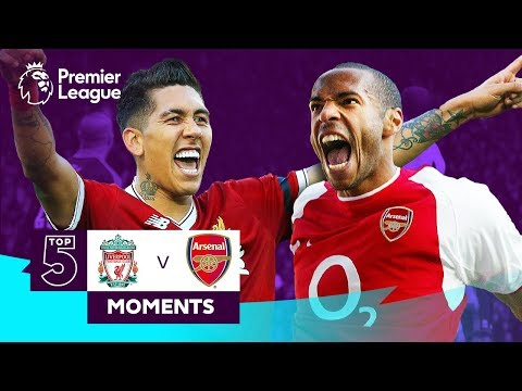 Liverpool v Arsenal | Firmino, Salah, Henry, Arshavin | Top 5 Moments