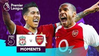Liverpool v Arsenal | Top 5 Moments