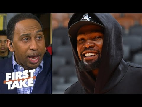 The Warriors' Game 2 win buys Kevin Durant more time to return - Stephen A.   First Take