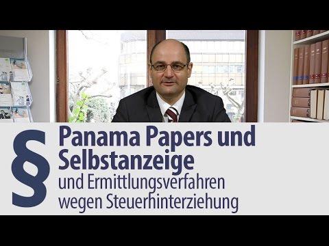 Panama Papers | Selbstanzeige | Ermittlungsverfahren | Steuerhinterziehung