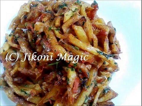Video How to make Masala Chips / Fries Kenyan style - Jikoni Magic download in MP3, 3GP, MP4, WEBM, AVI, FLV January 2017
