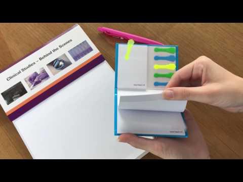 Hardcover: Haftnotiz-Set mit formgestanzten Filmmarkern