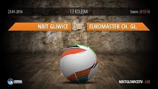 Nbit Gliwice - KGHM Euromaster Chrobry Głogów (13 kolejka) Futsal Ekstraklasa 2015/16 - LIVE