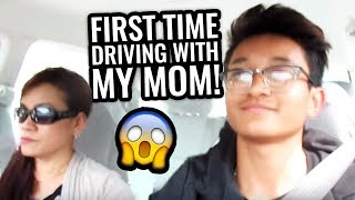DRIVING WITH MY MOM!