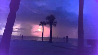 Sunset and Lightning time lapse