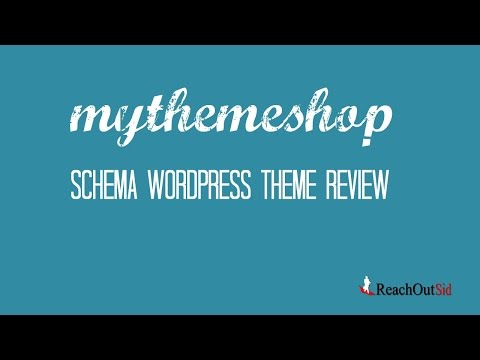 Watch 'Schema WordPress Theme Review- MyThemeShop Theme - YouTube'