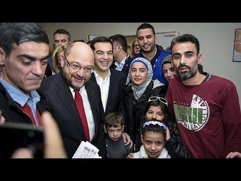 Ελλάδα: Επίσκεψη Σουλτς στους πρόσφυγες στο Γαλάτσι