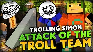 SIMON'S MINI RAGE MONTAGE - Minecraft Attack of the B-Team (Troll Team) Seashores Jump Map