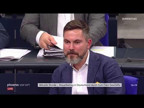 Bundestag: Aktuelle Stunde zum Steuerbetrug in Deut ...